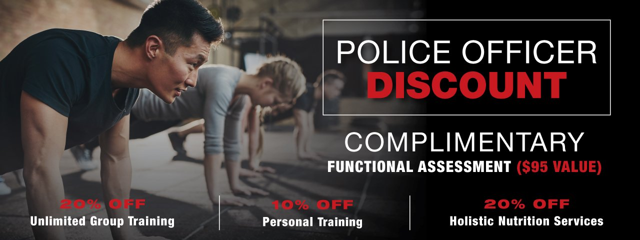 Police Officer Discount On Group Training, Personal Training & Holistic Nutrition Services