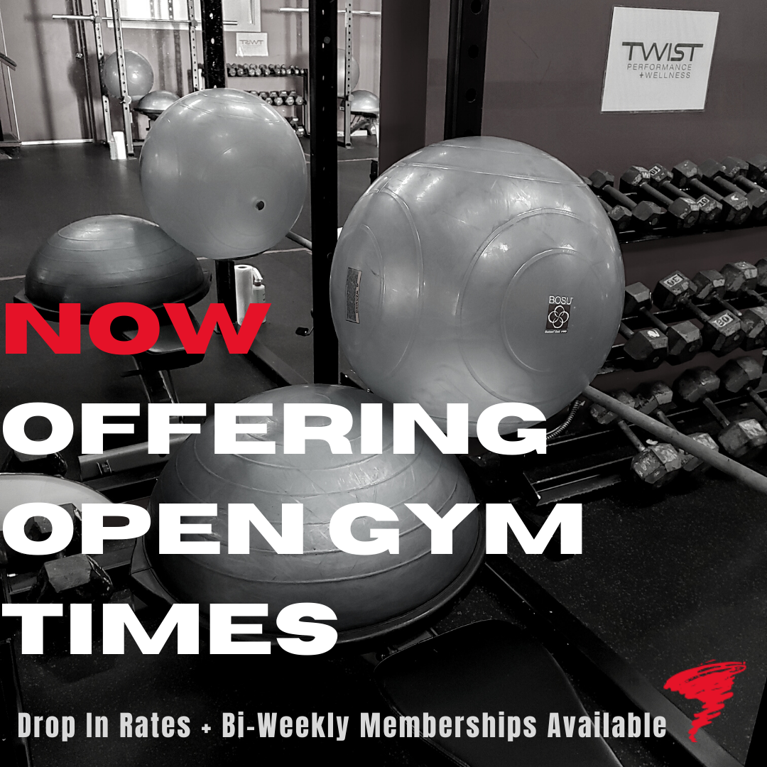 Now Offering Open Gym Times